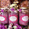 Lavender Buds with pink Himalayan salts, Black salts .