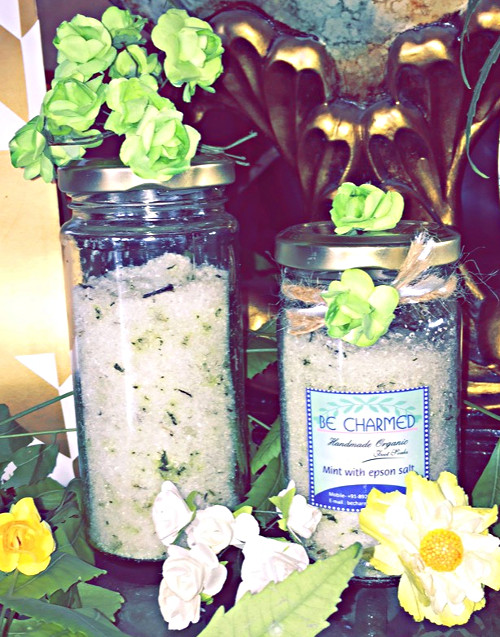 Mint with Epsom salts