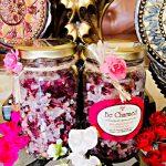 Rose Petals with pink Himalayan salts