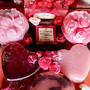 rose petals soap oil