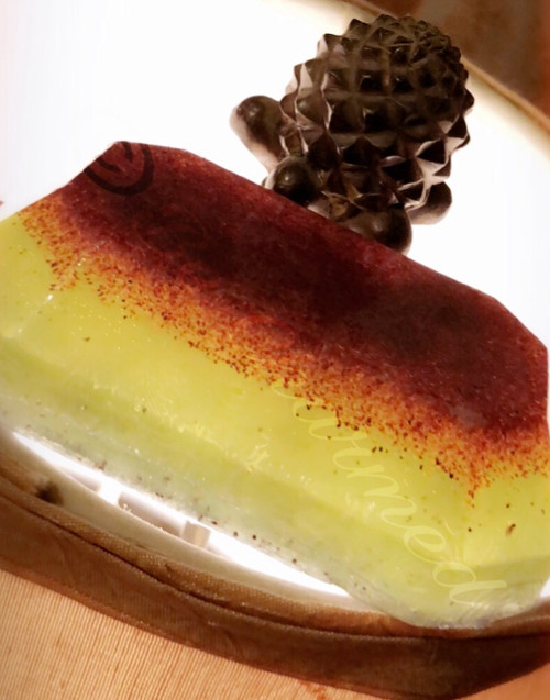 Green apple walnut scrub soap