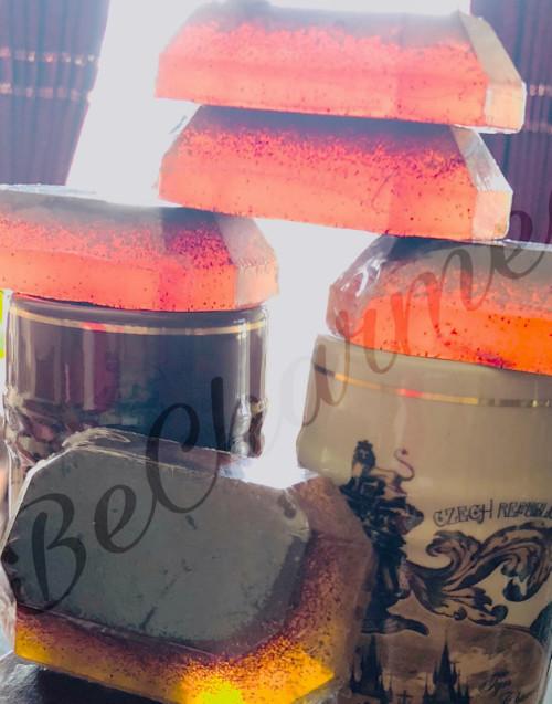 Orange walnut scrub soap